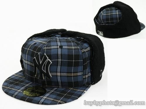 Cheap Wholesale Mlb New York Yankees Winter Caps Earflaps Hats Grid Grid For Sale Mlb Fitted Hats New York Yankees Winter Cap Fitted Hats