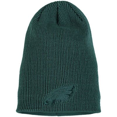 Men s Philadelphia Eagles New Era Green Solid Slouch Team Knit Beanie c5d56acf6