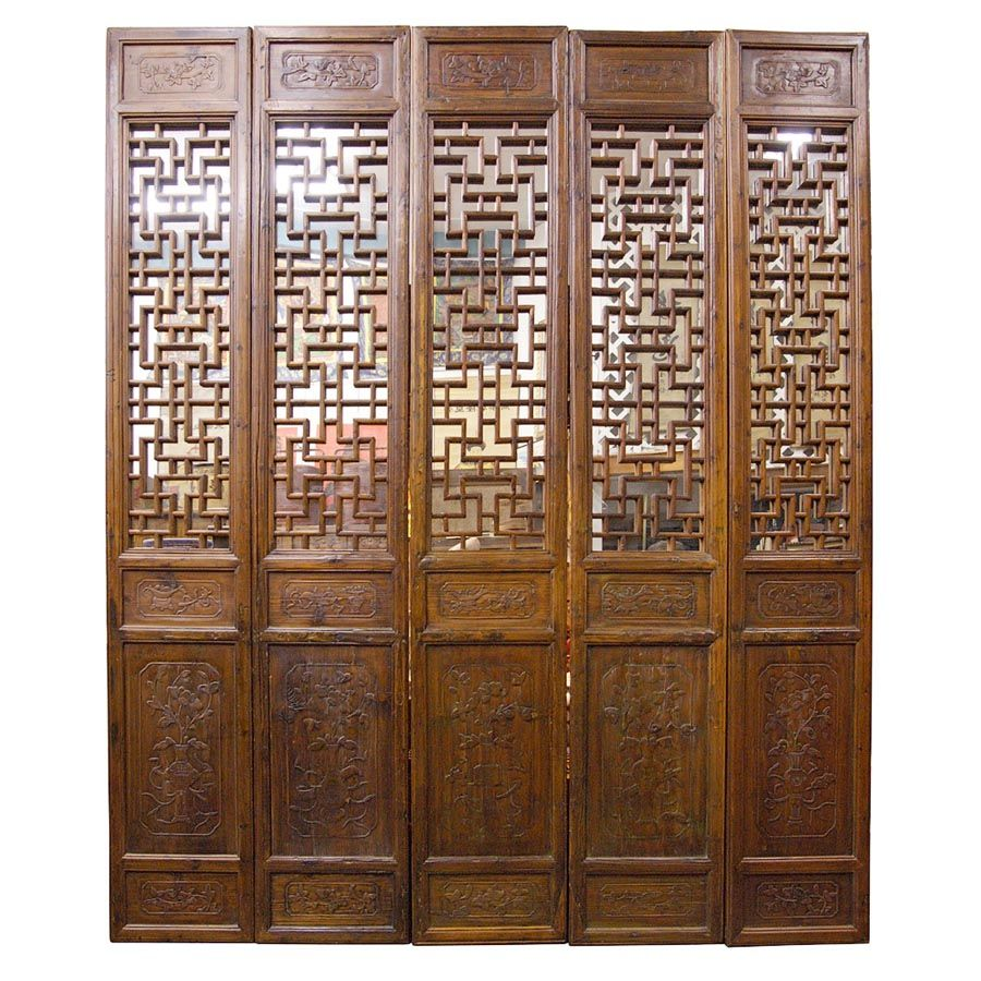 Chinese screens room dividers antique pcs