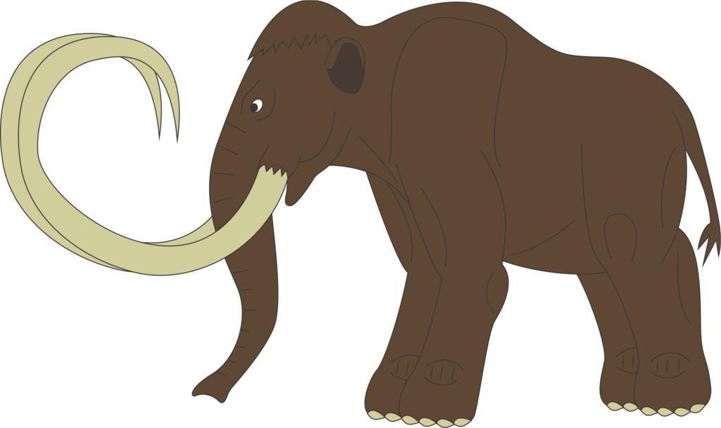 Картинка мамонта для детей