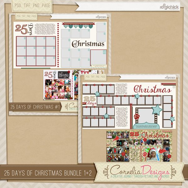 25 Days Of Christmas Bundle by Cornelia Designs