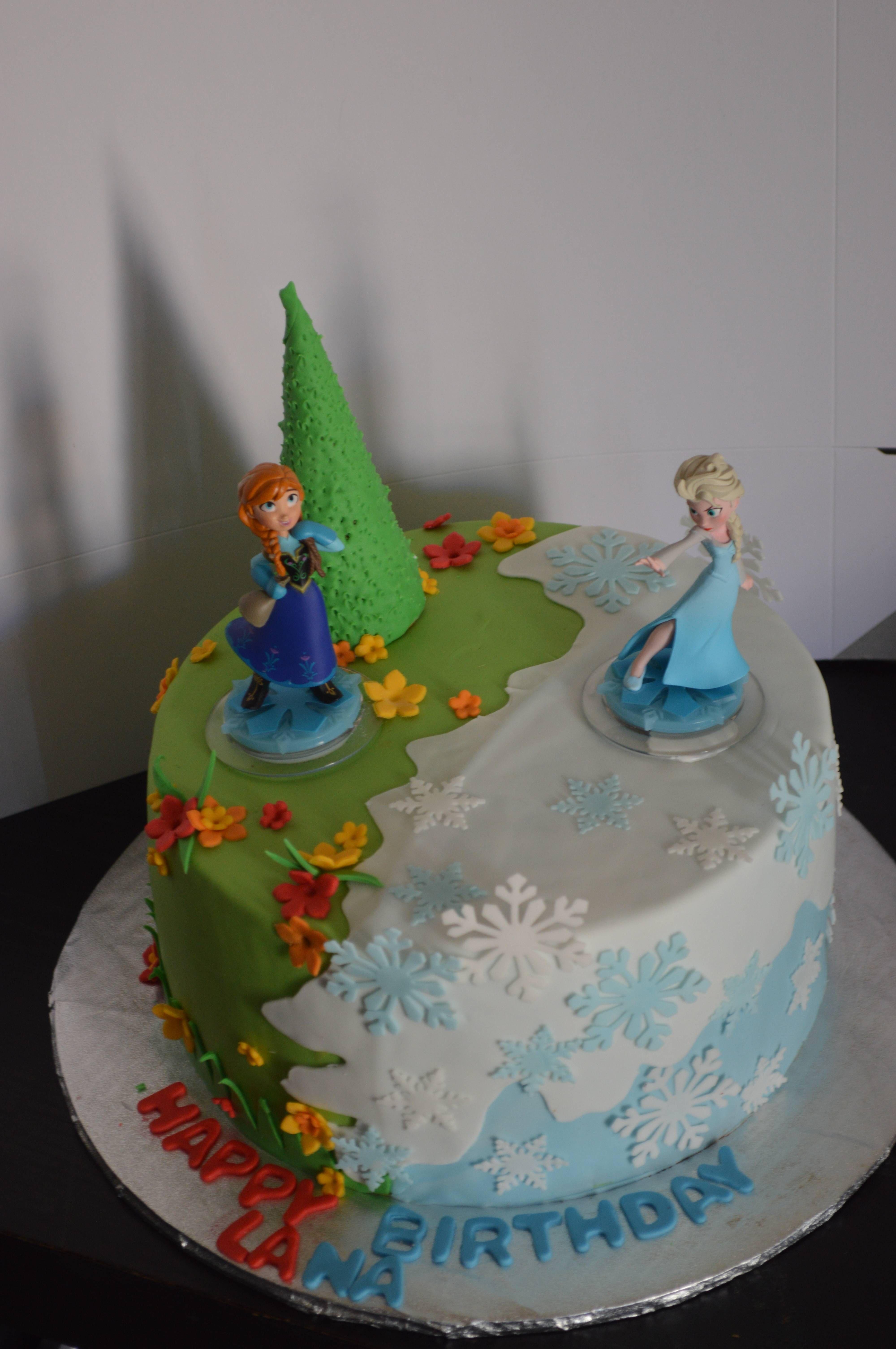 Elsa And Anna Cake Girl Birthday Cakes By Anya Pinterest Anna