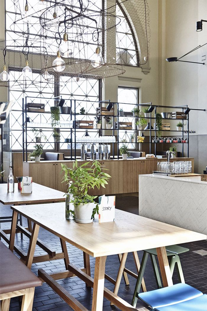 Cafe restaurant story is hidden gem of helsinki commercial interior design news