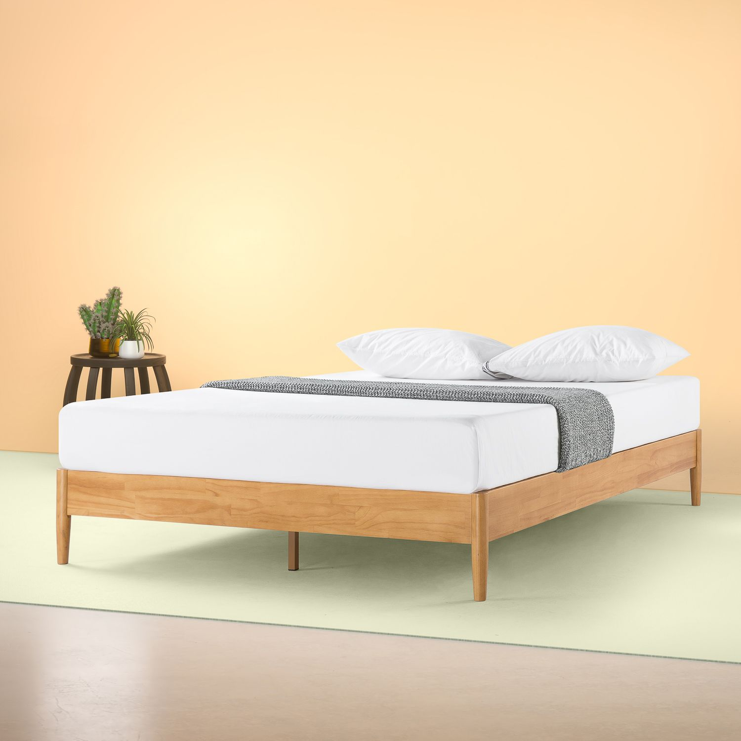 Zinus Amelia 12 Wood Platform Bed Queen Walmart Com In 2020 Wood Platform Bed Platform Bed Frame Wood Platform Bed Frame