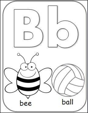 letter b alphabet card for coloring for teachers alphabet cards alphabet coloring pages. Black Bedroom Furniture Sets. Home Design Ideas
