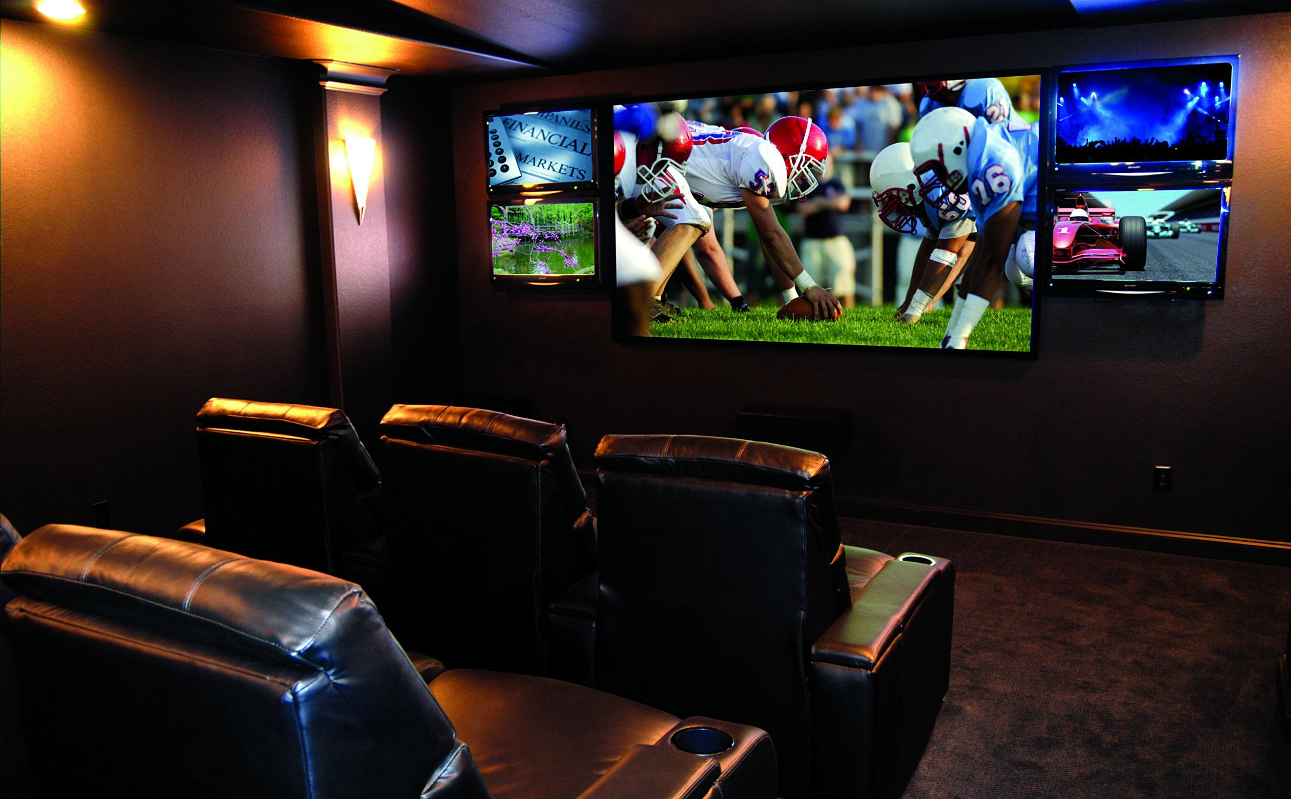 Showroom design contemporary home theater minneapolis by - Home Theater Sports