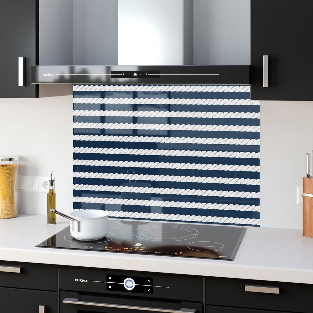 Kitchen Splashback Tempered Heat Resistant Glass Oasis Stripes ...