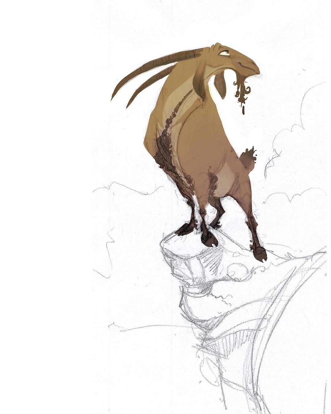 #characterdesign #art #animation #MHD_kheirandish #MHD_kheirandish_art #animationdrawing  #illustrate #drawing #goat