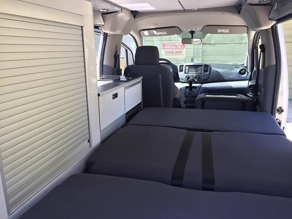 Sehr Kitchen unit installed in a silver NV200 camper van | Nissan NV200  VS66