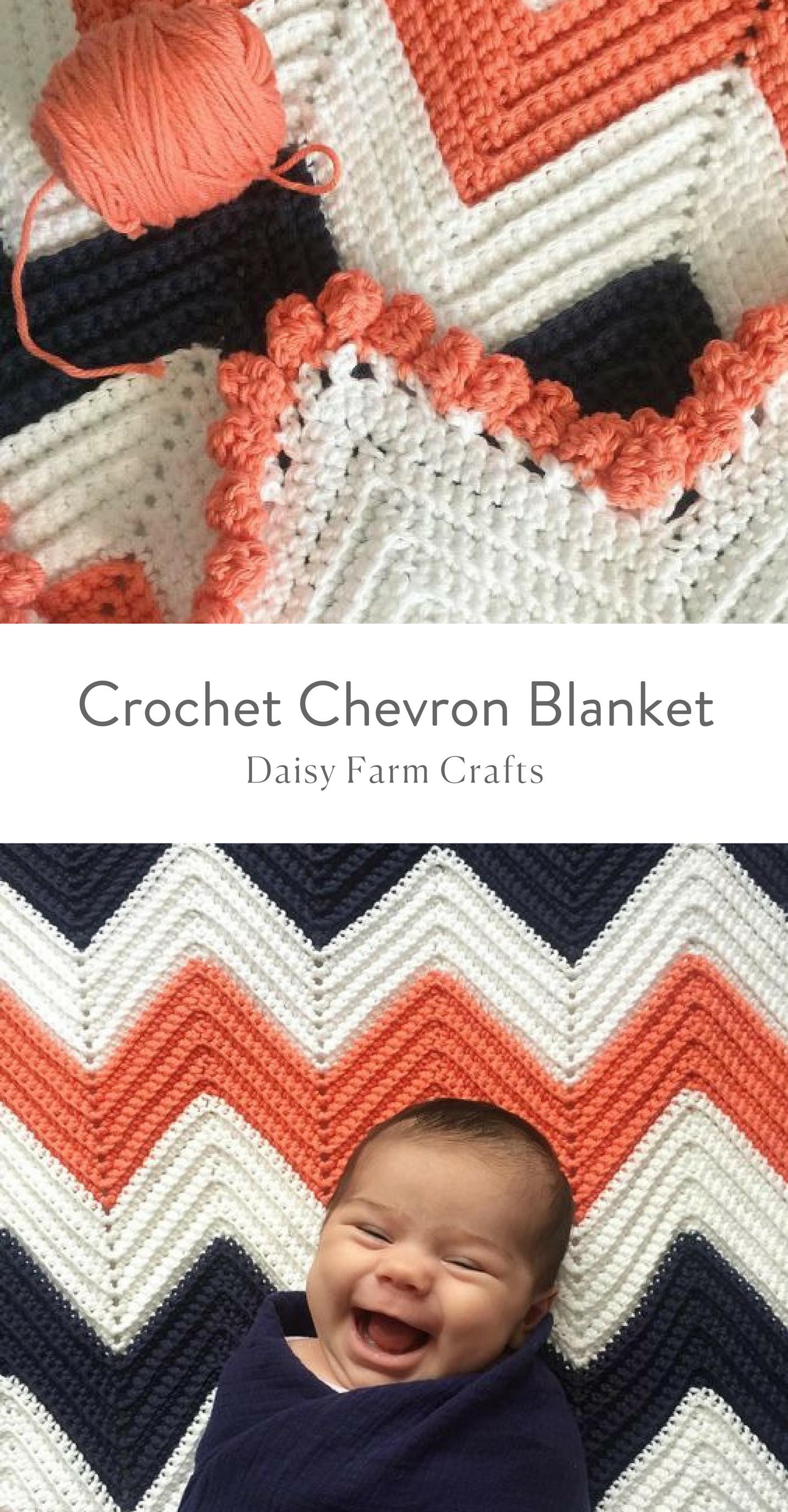 Free Pattern - Crochet Chevron Blanket | Crochet Patterns ...