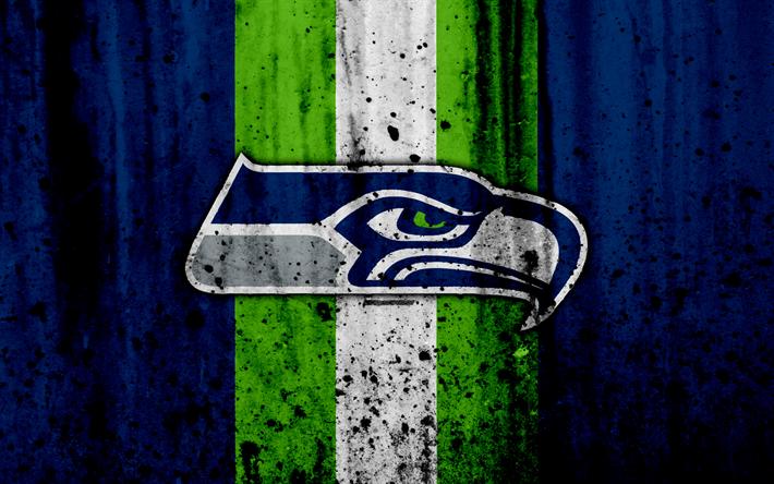 Download wallpapers 4k, Seattle Seahawks, grunge, NFL