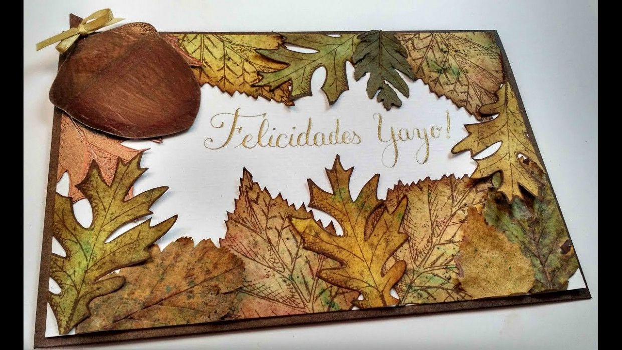 Greeting Card Using Dry Leaves in 5  Fall cards, Leaf crafts