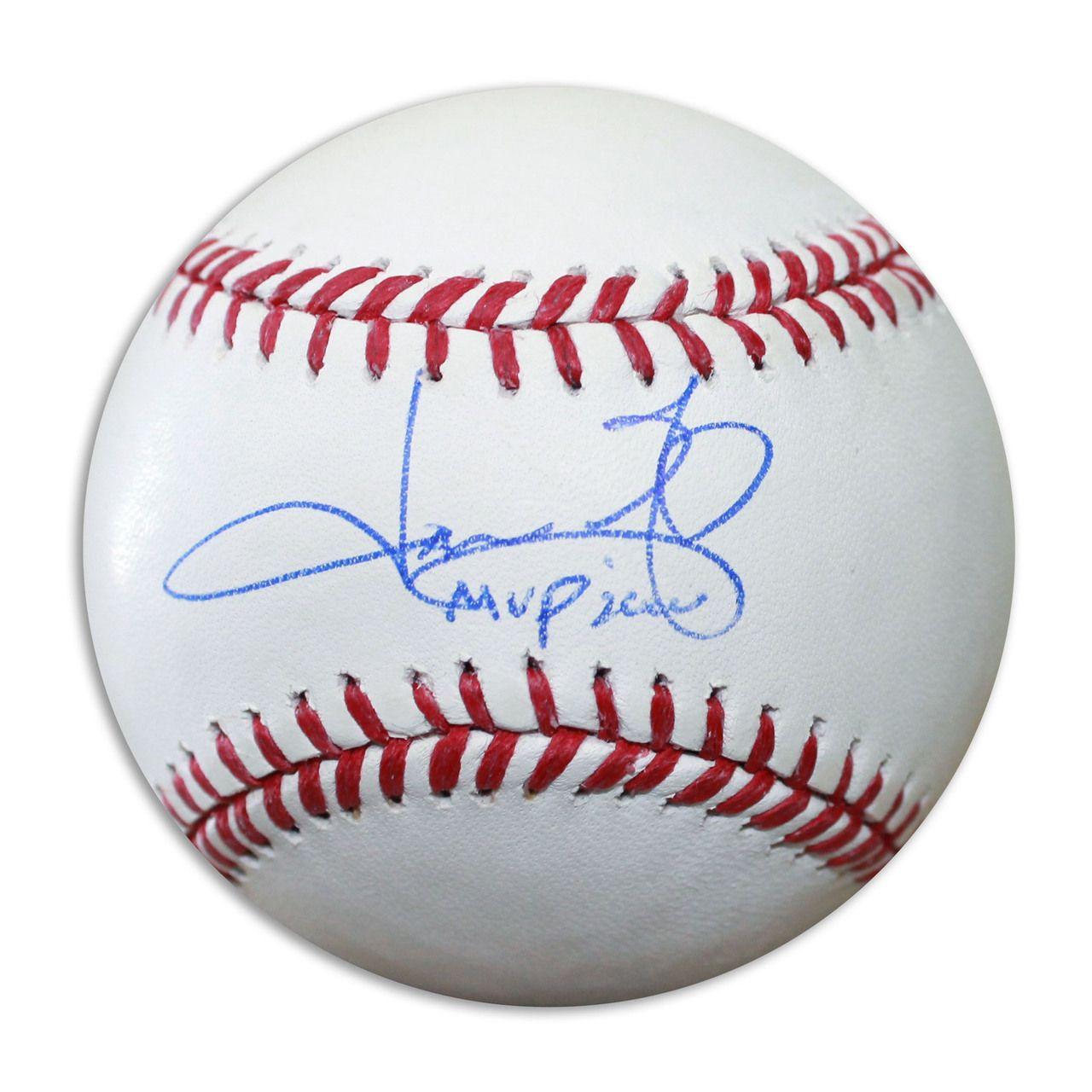 Jason Giambi Autographed Official Mlb Baseball Inscribed Mvp 2000 Jason Giambi Mlb Baseball Mlb