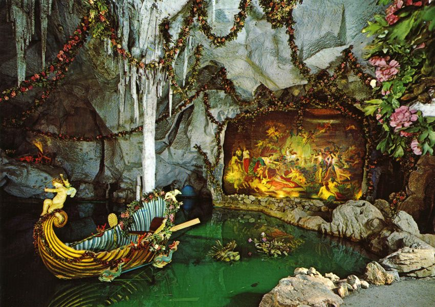 Postcard Linderhof Blue Grotto With Images Eikones