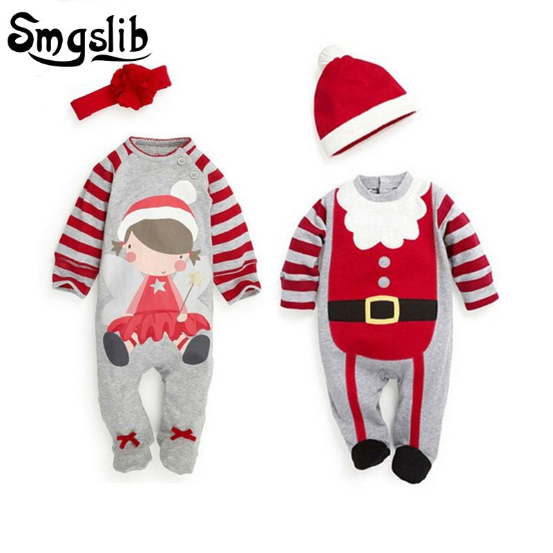 66dc8fb01 Christmas baby romper newborn baby girl clothes santa claus costumes ...