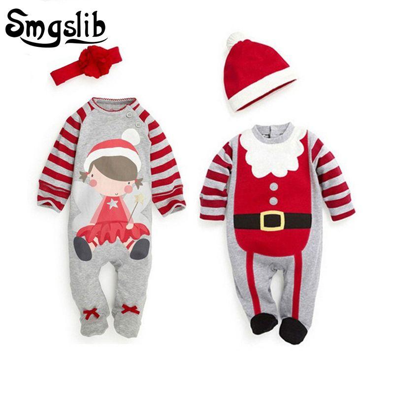 0db77dd48ebd Christmas baby romper newborn baby girl clothes santa claus costumes ...