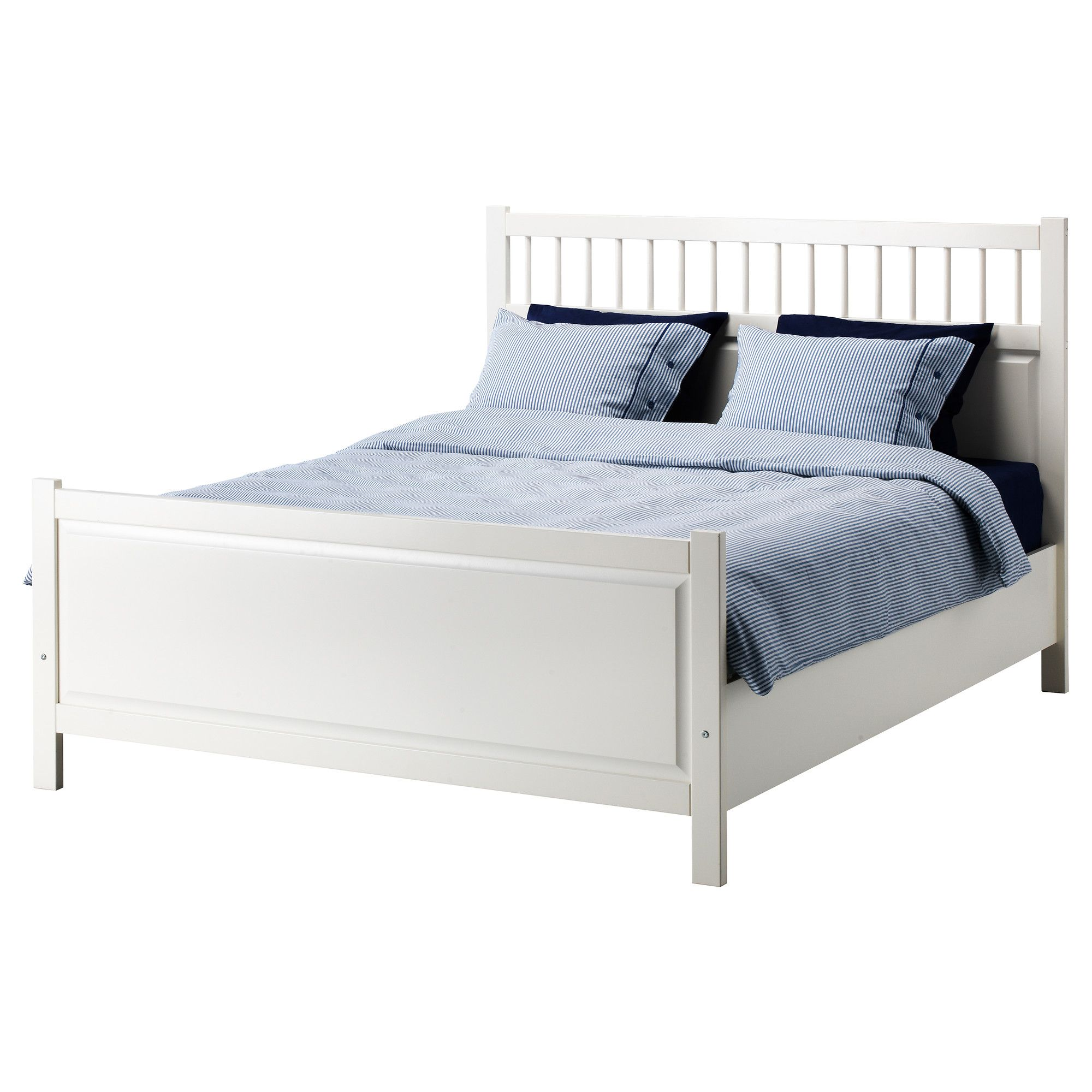 apartment furniture - Full White Bed Frame