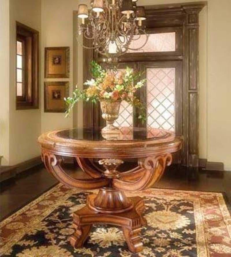 Entryway Round Table Ideas Present Wonderful Decorating