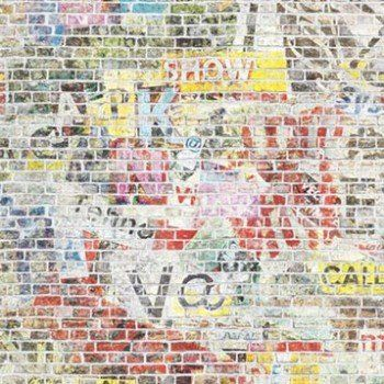 Papier Peint Brique Multicolore Clair Intisse Street Art Papier Peint Papier Peint Brique Street Art