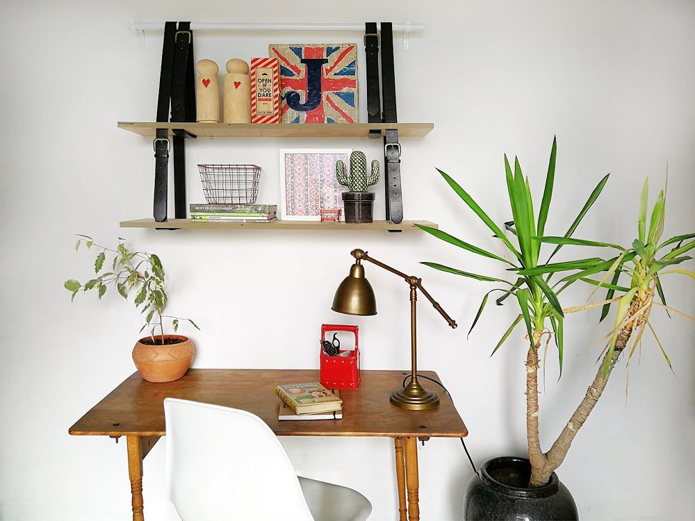 Quick and Easy Hanging Shelving is part of Home Accessories Decor Shelves - Curtain hardware is made to hold weight while looking great, so it makes perfect sense to utilize it for some hanging shelves  This very cute little shelf is st…