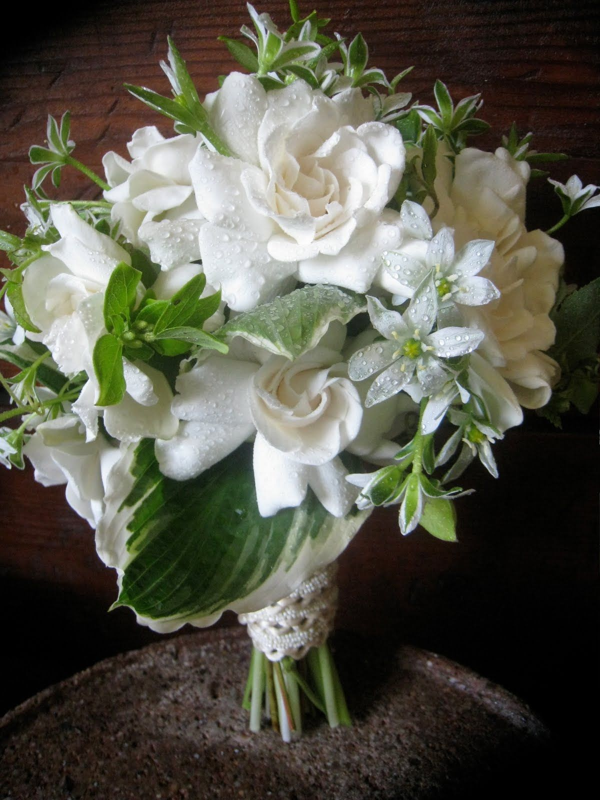 The all-white, all fragrant bouquet. Flowerwild Designs