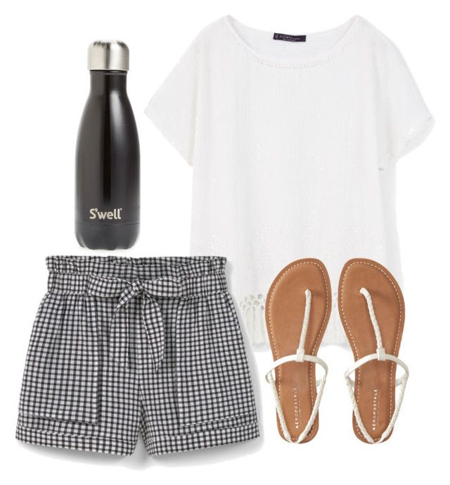 """""""Fringe"""" by melw44 ❤ liked on Polyvore featuring MANGO, Aéropostale and S'well"""