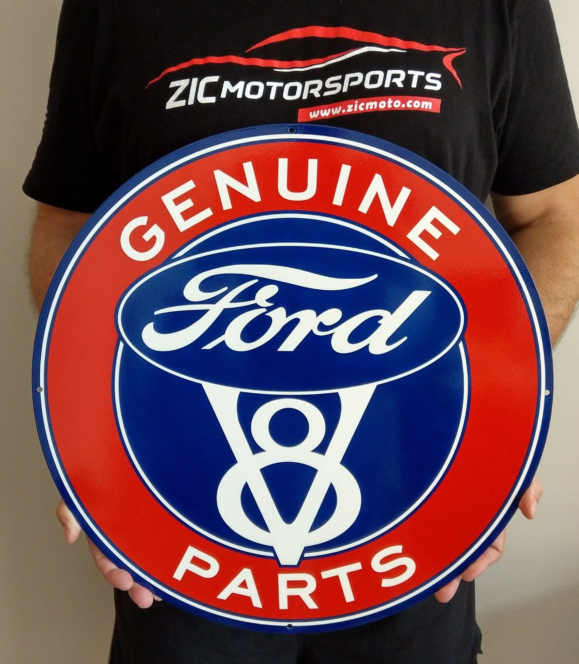 Ford Genuine Parts Vintage Red And Blue Round Wall Art Metal Etsy Round Wall Art Metal Wall Art Red And Blue