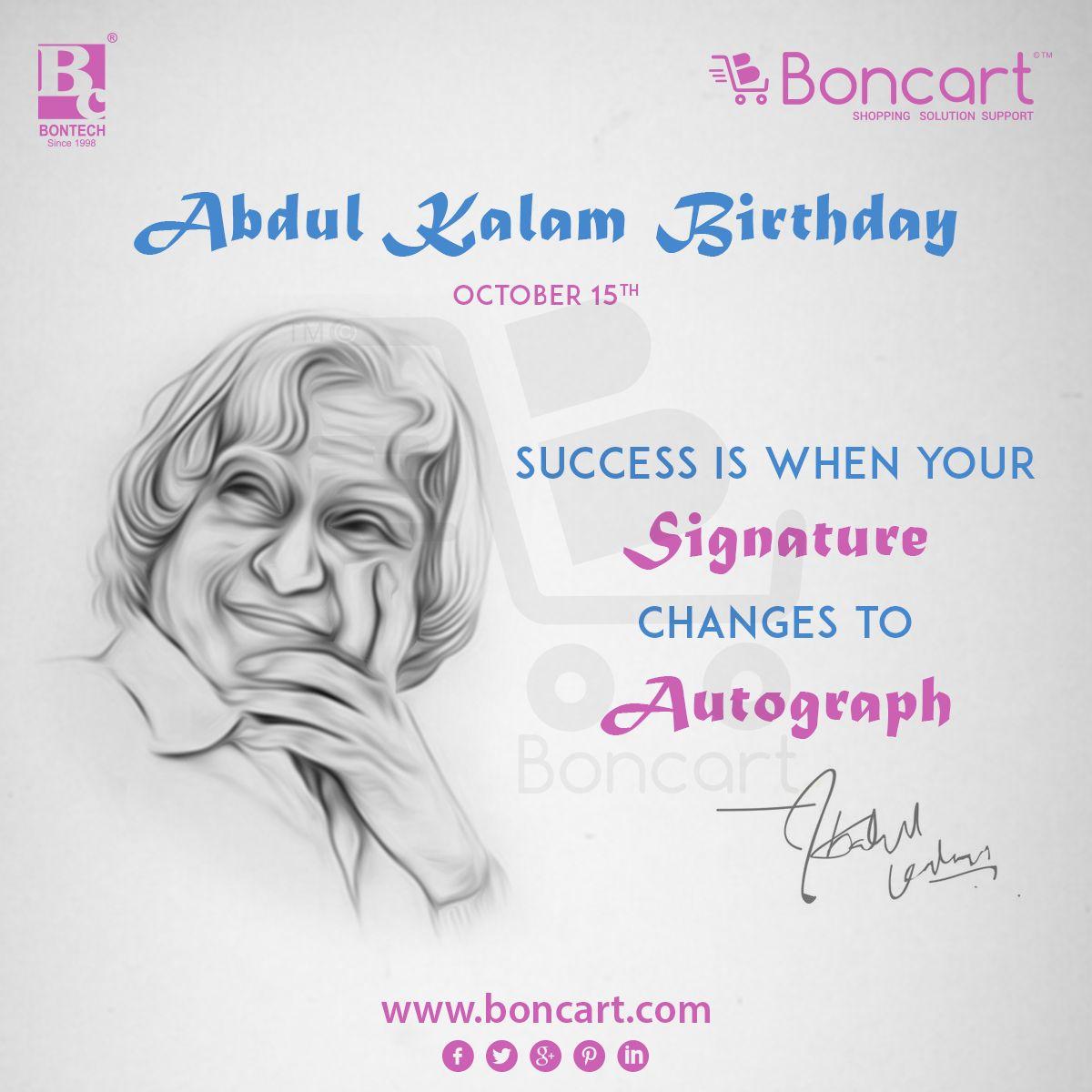 Dr. APJ Abdul Kalam Birthday October 15 Birthday dates