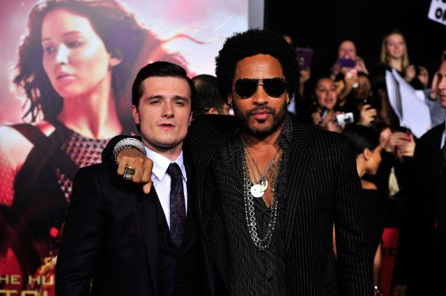 Lenny Kravitz And Josh Hutcherson At Event Of The Hunger Games