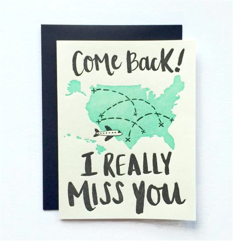 Come Back Card | I miss you card, Miss you cards