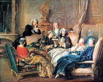 Lettura di Molière in un salotto letterario del '700...più social di questo non c'è niente!