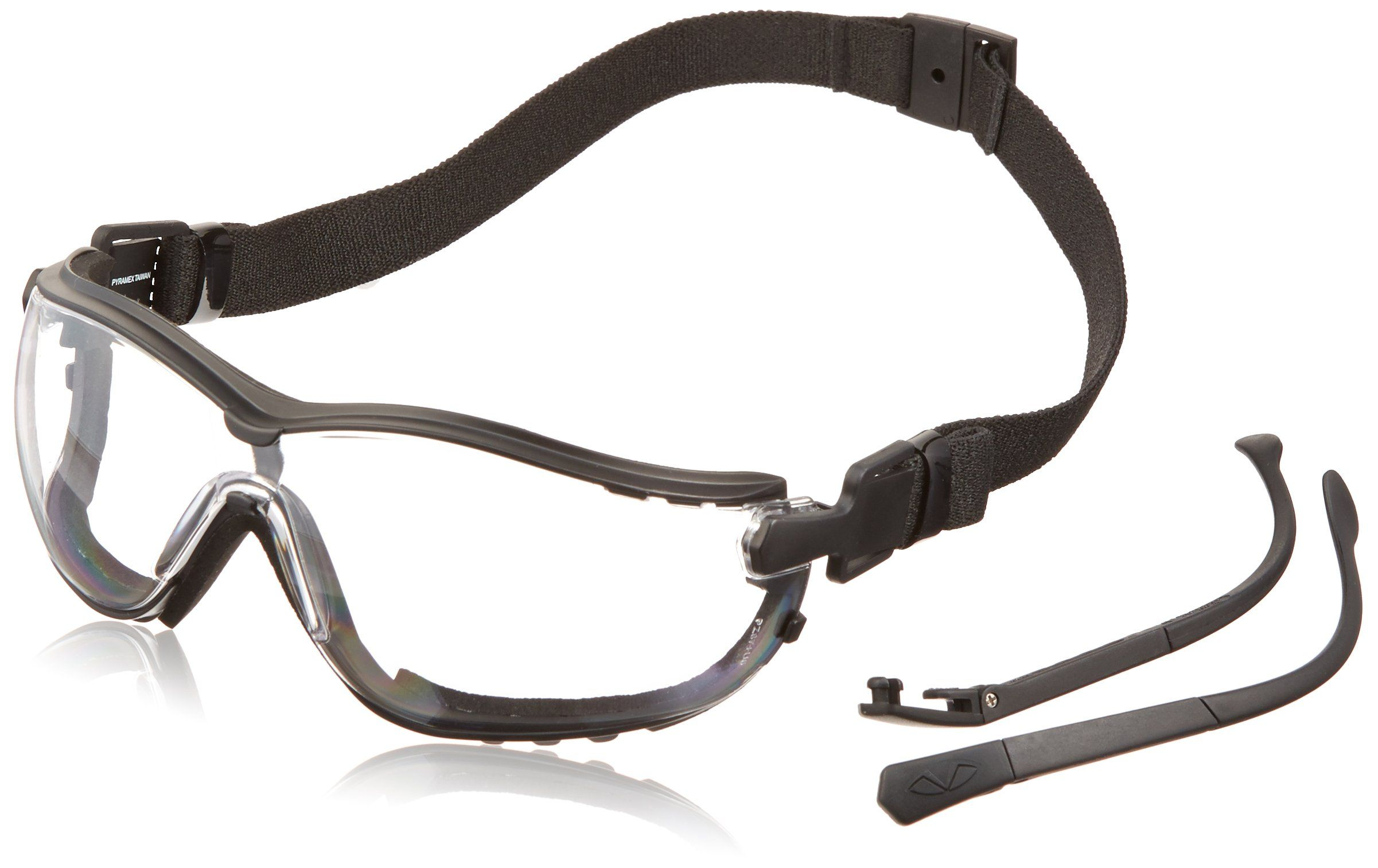 Pyramex V2G Safety Glasses, Black Frame/Clear AntiFog