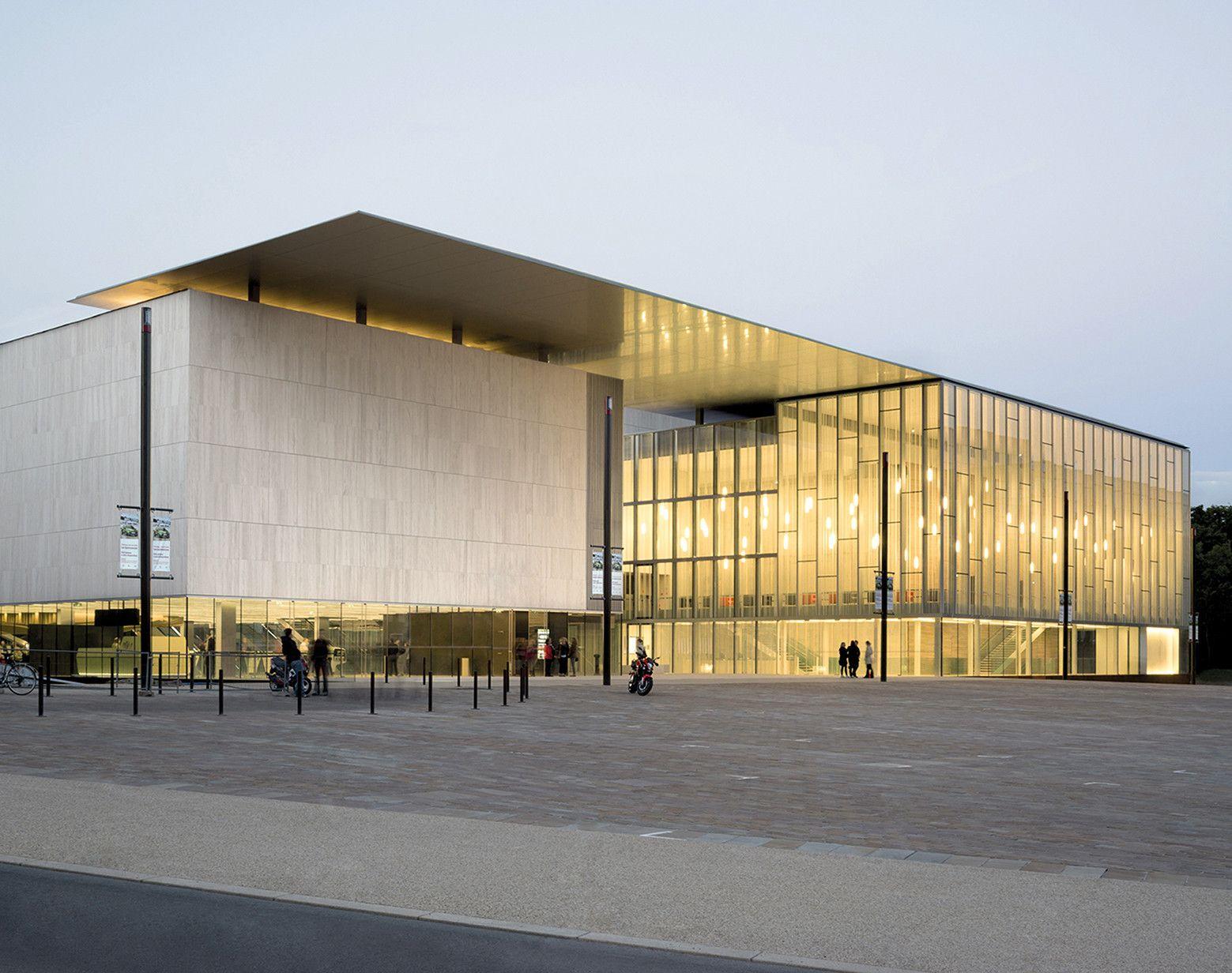 Architecte Le Mans les quinconces cultural center / babin+renaud | cultural