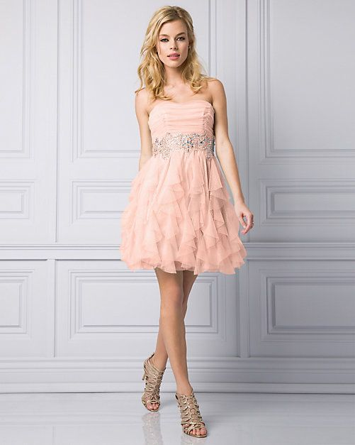958cafa26336 You'll be the life of the party in this flouncy pink ruffled bridesmaid  dress #lechateau #lewedding #styledowntheaisle