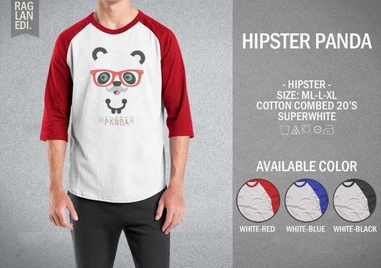 Raglan Hipster Panda