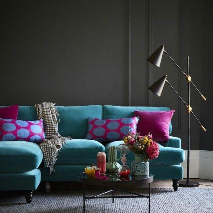 aktuelle blaut ne und farbmuster in der raumgestaltung 2017 wandfarben palette wandfarbe und. Black Bedroom Furniture Sets. Home Design Ideas