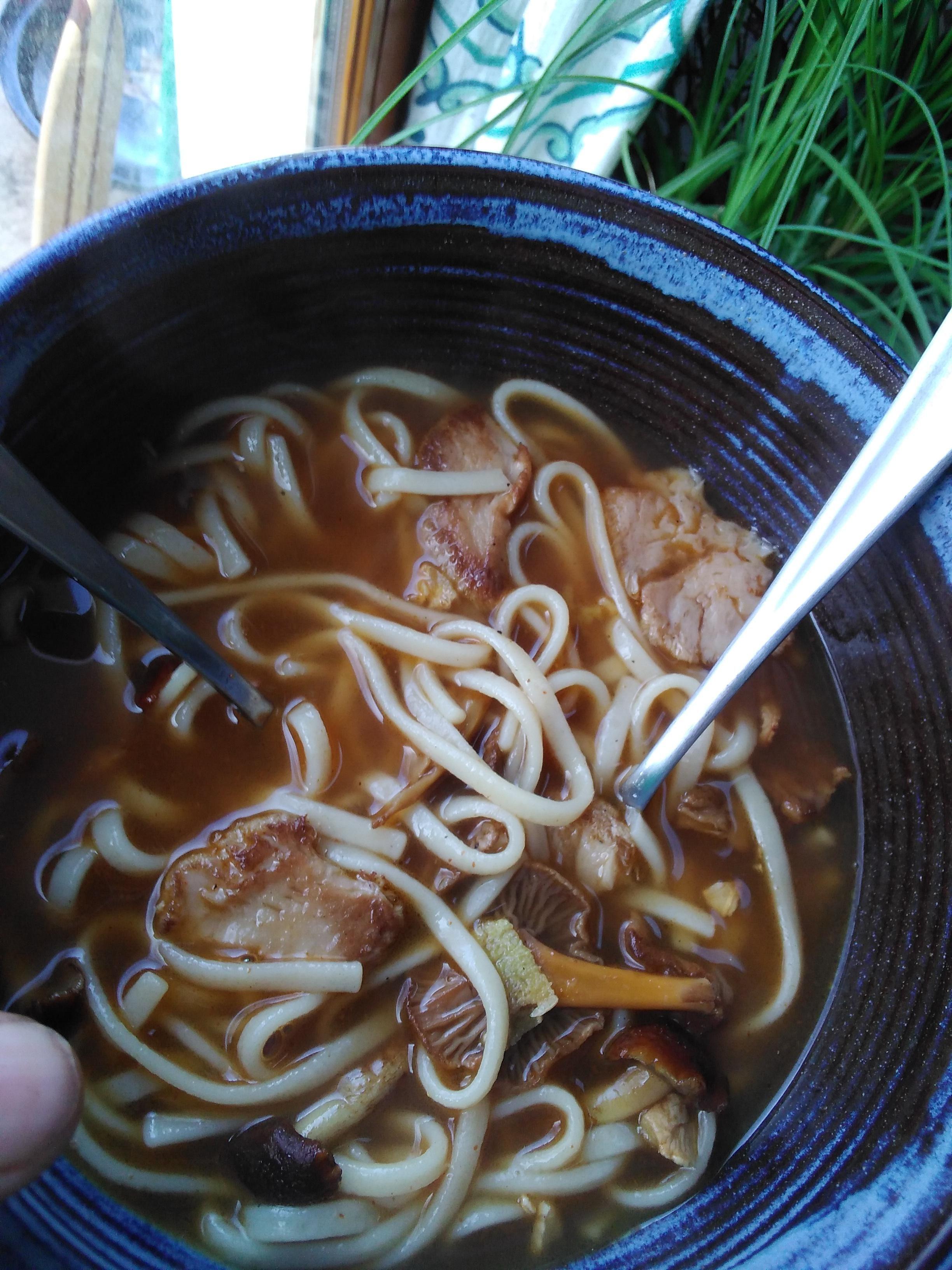 3 mushroom udon