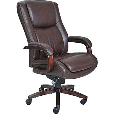 La Z Boy Winston Bonded Leather Big Tall Executive Chair Brown 44763 Staples Executive Office Chairs Office Chair Office Chair Design Laz y boy office chair