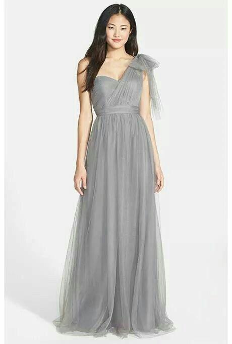 Vestido color gris | Vestidos para invitadas | Pinterest