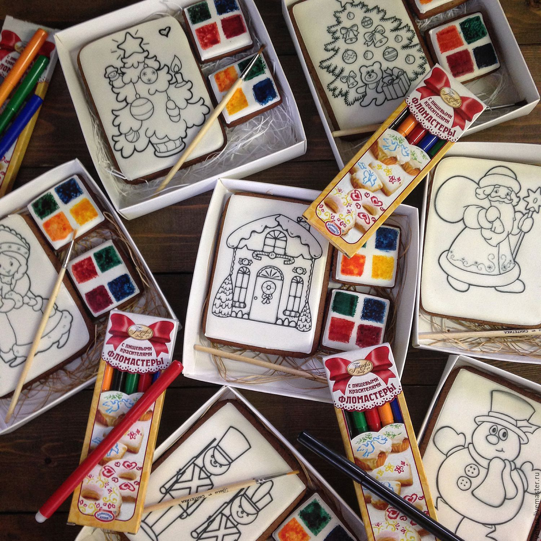 Купить Пряничные раскраски - белый, для детей, раскраска ...