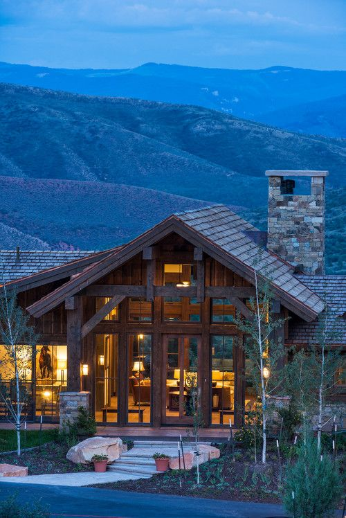 Georgianadesign aspen bluff red sky ranch co meadow - House in the mountains ...