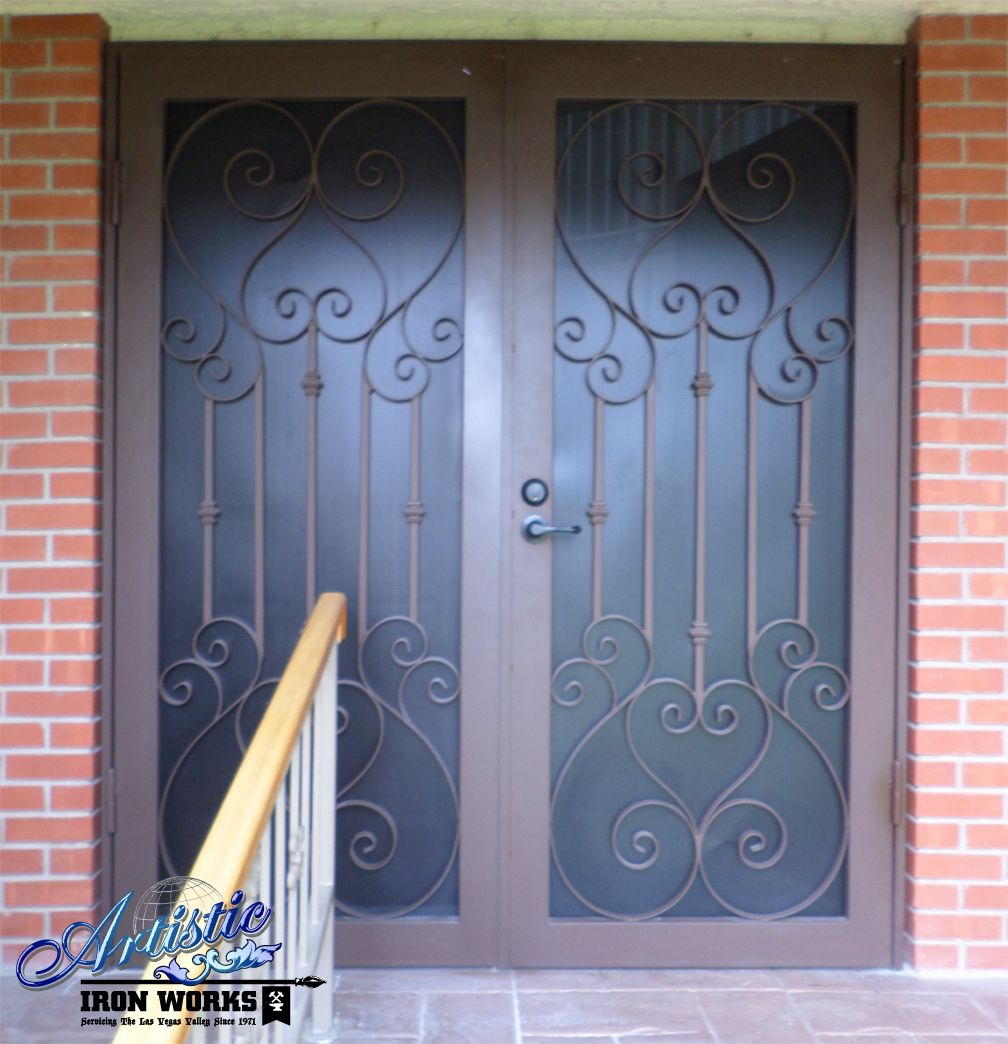 Biscay wrought iron security screen double doors model biscay wrought iron security screen double doors model fd0037b vtopaller Choice Image