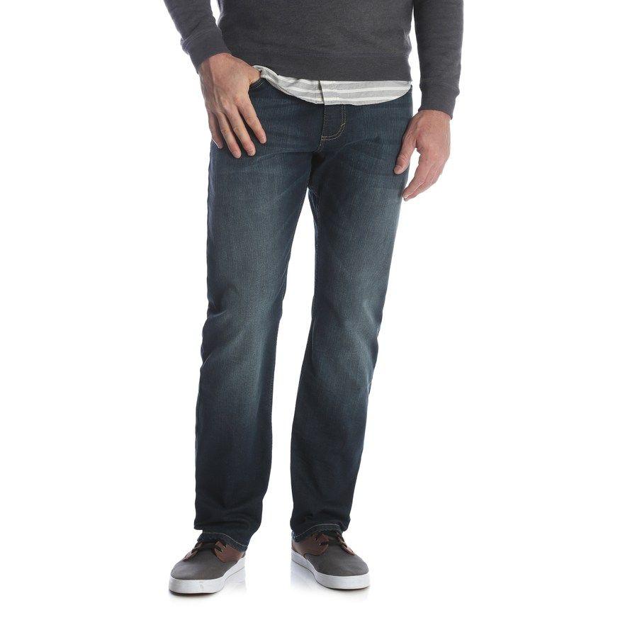 Mens wrangler athletic jeans size 38x30 blue