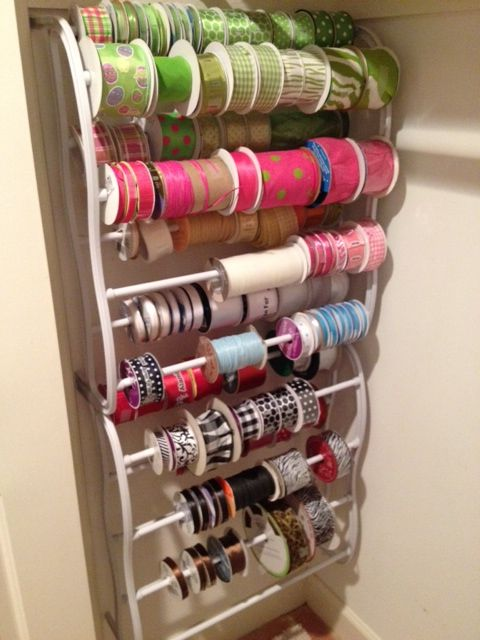 Use A Shoe Rack From Wal Mart For You Ribbon Holder Great Way To