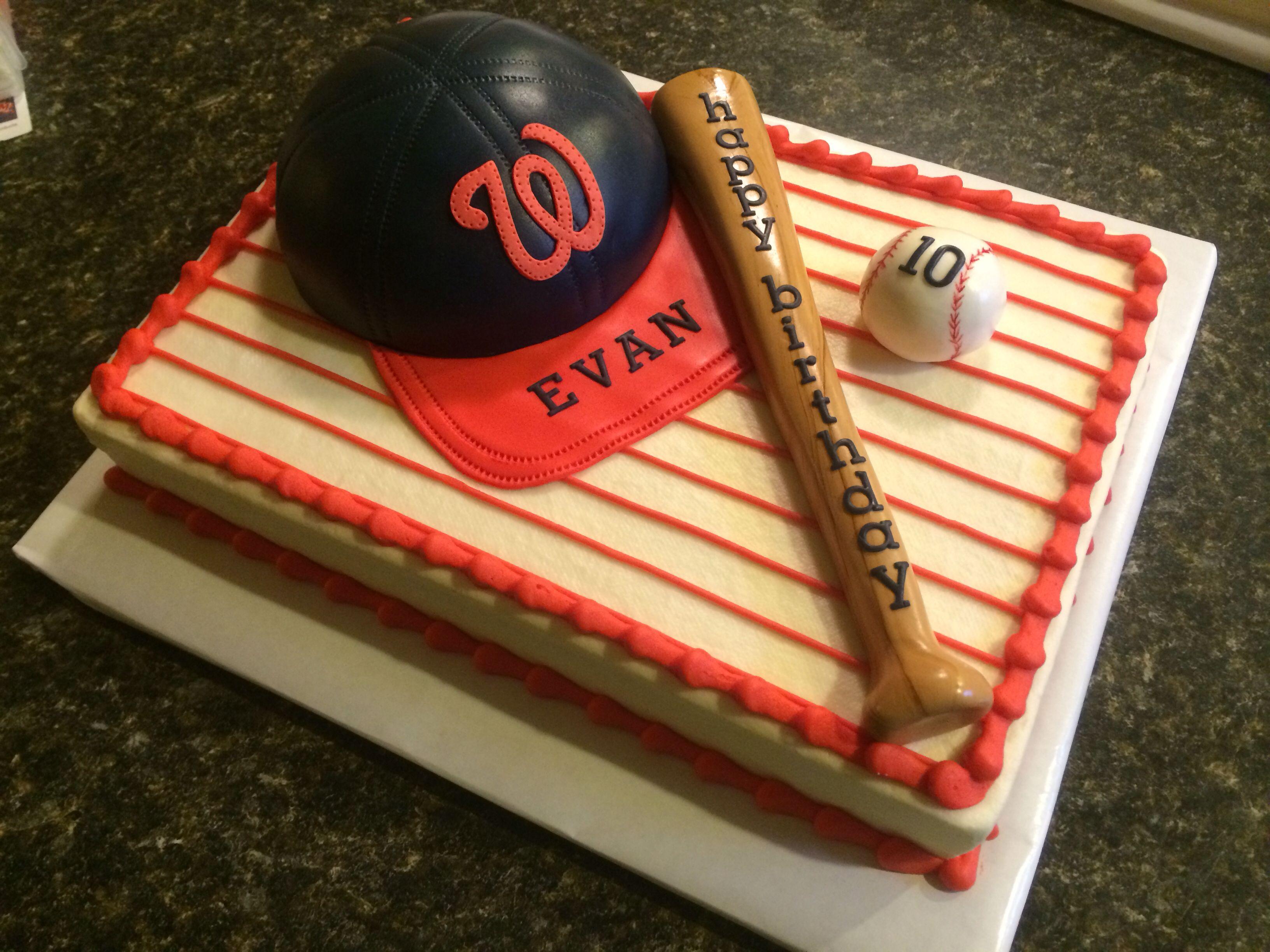 Washington Nationals baseball cake My Cakes Pinterest