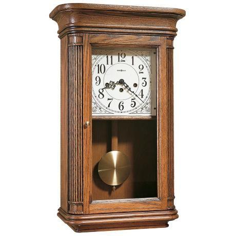 Sandringham 24 Key Wound Pendulum Chiming Wall Clock 2j033 Lamps Plus Howard Miller Wall Clock Chiming Wall Clocks Wall Clock Oak