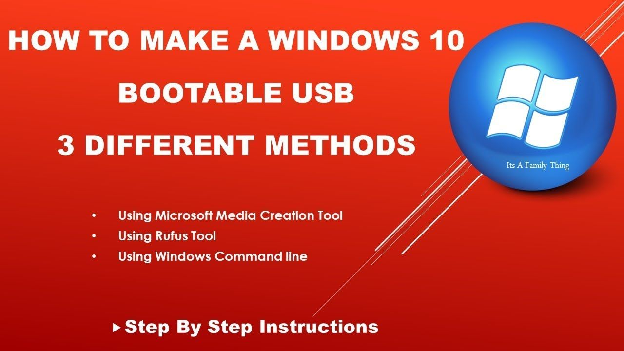Windows 10 Bootable Usb Flash Drive With 3 Methods In This Tutorial I Will Be Showing You H Windows 10 Tutorials Windows 10 Operating System Usb Flash Drive