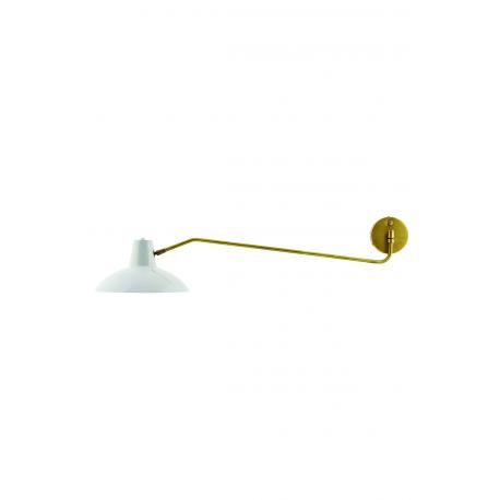 Applique en métal blanc et cuivre jaune House Doctor - Décoration ...