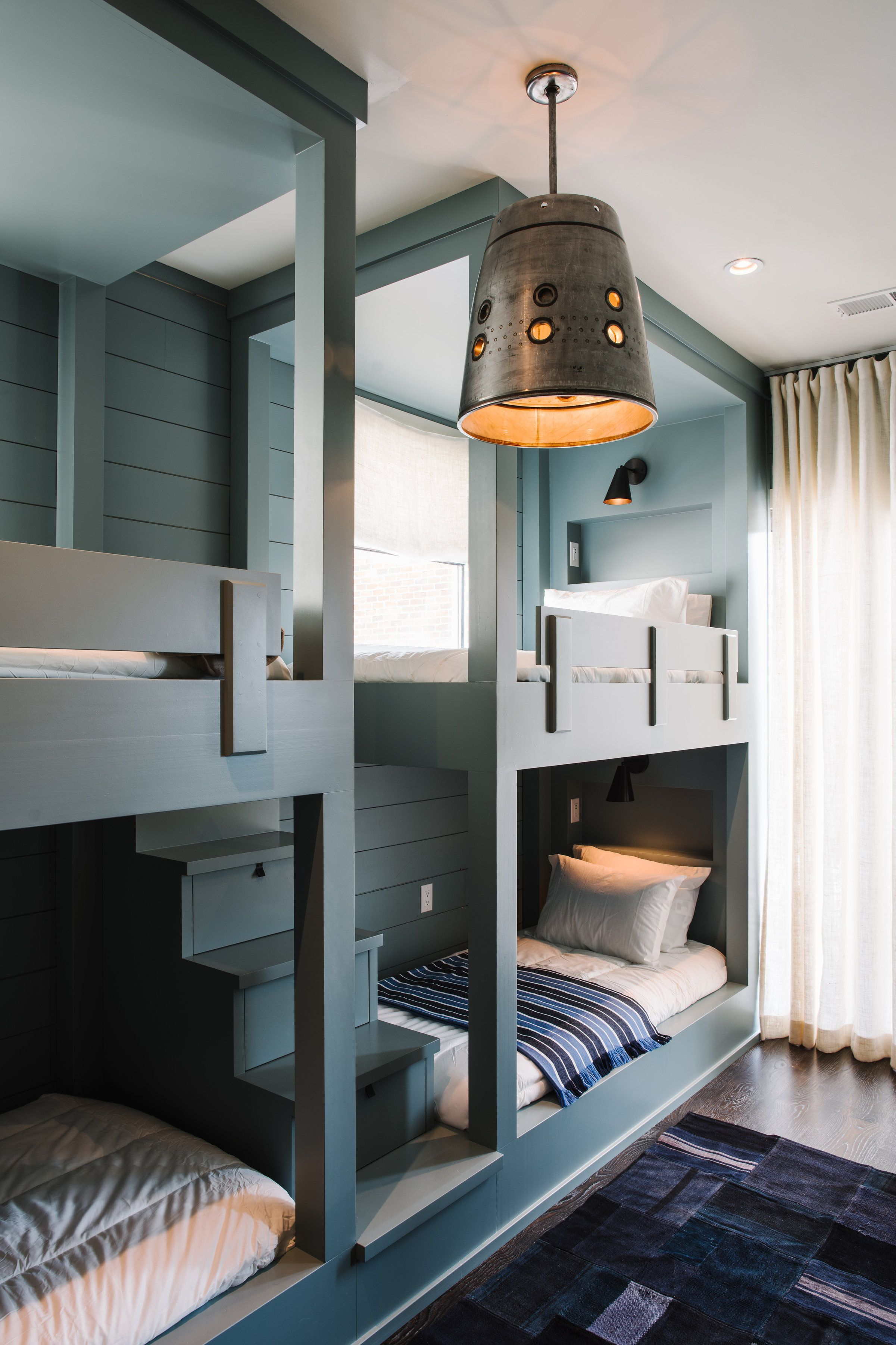 Double loft bed with stairs  Epple Residence  Smith Hanes childrens bunk bed  Bunk Beds