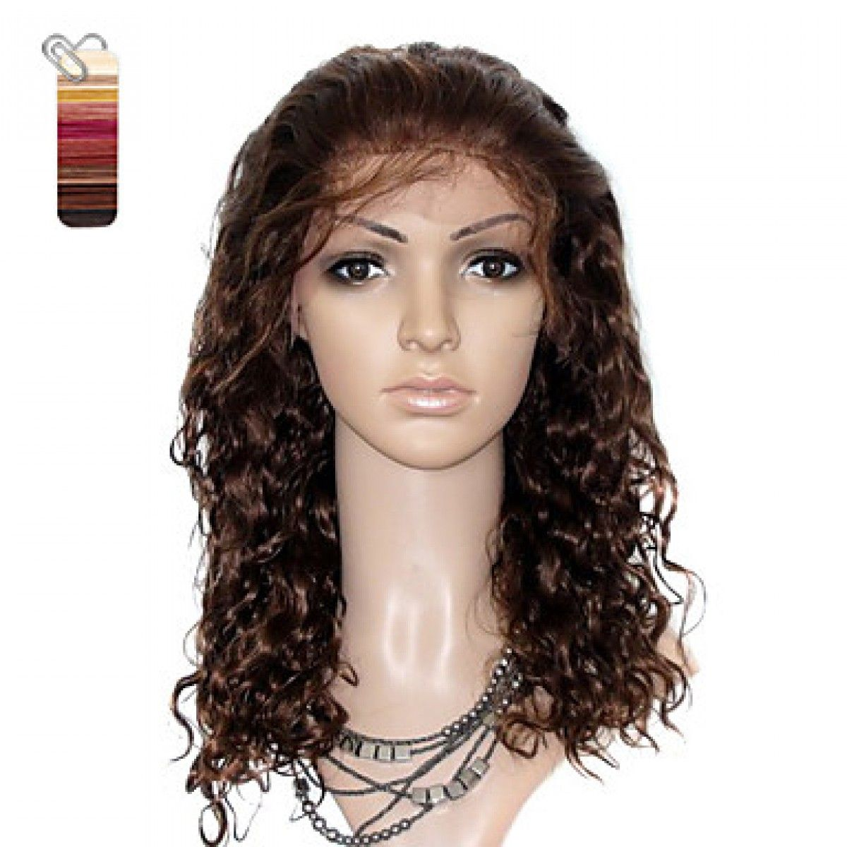 Full Lace Long Curly 100 India Reme Hair Wig Multiple